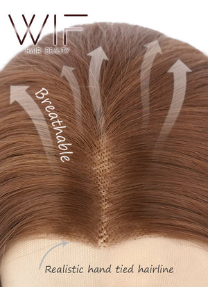 Chestnut Brown Straight Lace Front Synthetic Wig LF005 - Wig Is Fashion Australia