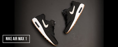 92374a787738 This Shoes feature is a classic Nike Air Max 1 Essentials This shoe has  Mesh and leather upper combinations in a black. The signature Swoosh in a  white bone ...