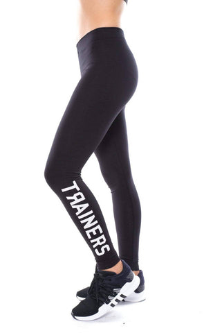 trainers womens logo leggings