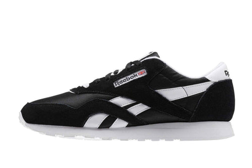 black/white / US 5 reebok cl nylon reebok 887387348549 Shoe