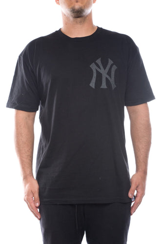 black / M majestic NY yankees reflective print tee majestic Shirt