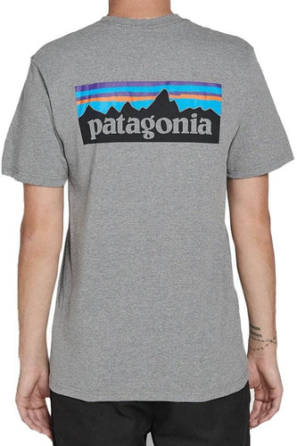 gravel heather / S patagonia p6 logo cotton shirt patagonia 190696474343 Shirt