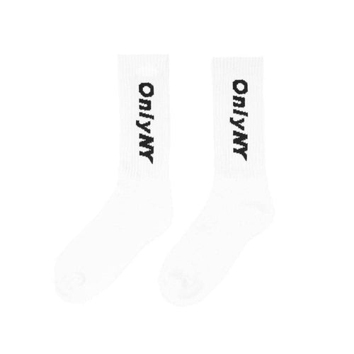 white only ny logo sock Only sock