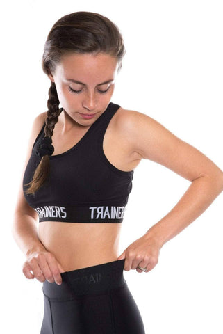 trainers banded sport bra