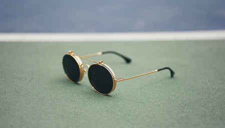 24k Gold / Standard 9five 50 50 flip 24k gold sunglasses 9five glasses