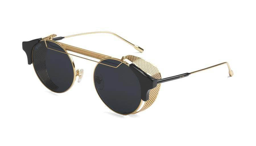 9five glasses 9five 88 black and 24k gold sunglasses