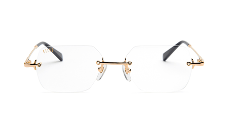 BLACK AND 24K GOLD / CLEAR LENSE 9five clarity reader glasses 9five glasses