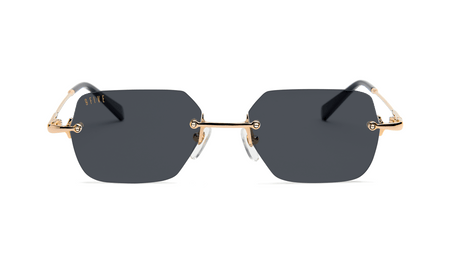 BLACK AND 24K GOLD / STANDARD 9five clarity glasses 9five glasses