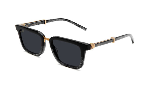 black marble / 24K gold / standard 9five bishop black Marble and 24k Gold 9five glasses