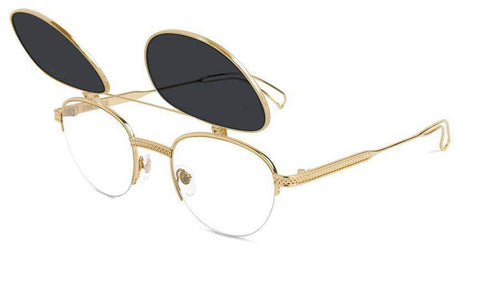 24kGold 9five dime flip up 24k gold sunglasses 9five glasses