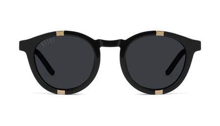 black/24kGold 9five grove black and 24k gold sunglasses 9five glasses