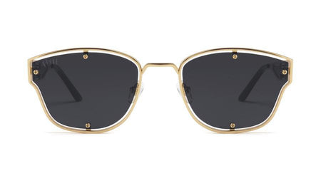 black/24k/Gold 9five orion black and 24k gold sunglasses 9five glasses