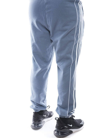 raw steel/white / S adidas mens pipe sweatpant adidas pant