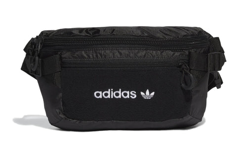 BLACK/WHITE adidas premium essentials waistbag large adidas bag