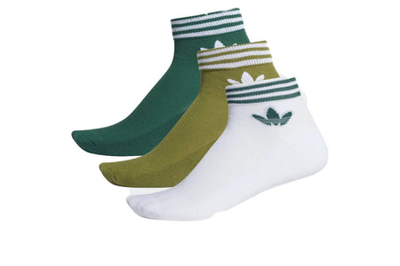 TECOLI/CGREEN/WHITE / US 9-11 adidas trefoil ankle socks adidas sock