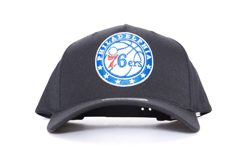 mitchell and ness philadelphia 76ers pinch front cap