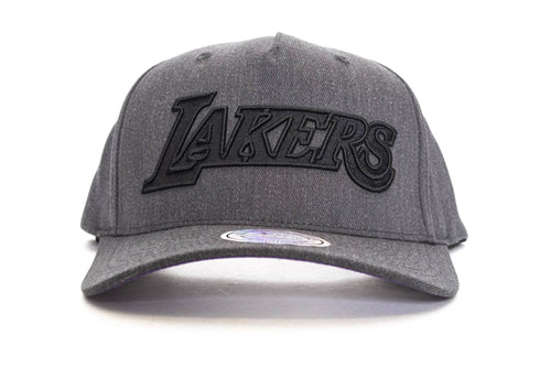 Grey / OS mitchel and ness dark heather wool bb la lakers mitchell & ness cap