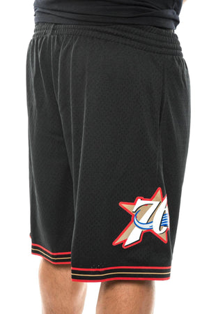 black / S mitchell and ness 76ers 00-01 road swingman shorts mitchell and ness 5056161600783 Short