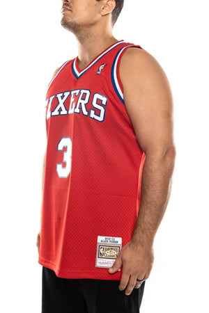 mitchell and ness 76ers iverson 02-03 nba swingman jersey mitchell and ness tank