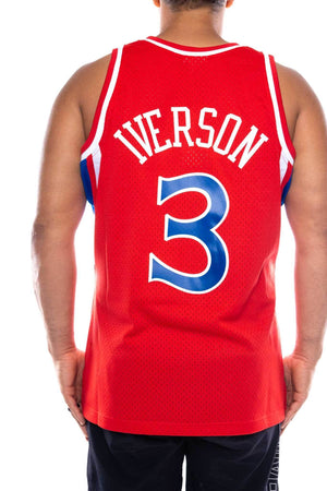 mitchell and ness 76ers iverson 3 road 96-97 nba swingman jersey mitchell and ness tank