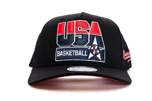 Black / OS mitchell and ness 92 usa basketball flex 110 snapback mitchell & ness cap