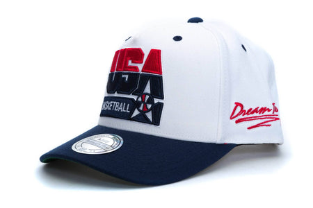 White mitchell and ness 92 usa basketball flex 110 snapback mitchell & ness cap