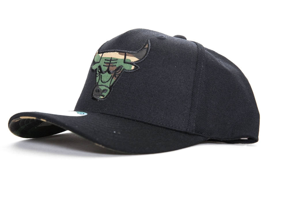 mitchell and ness chicago bulls 110 pinch front snapback