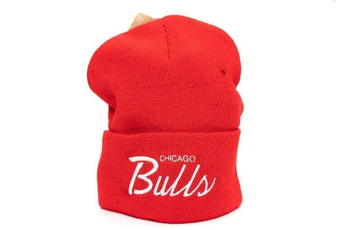 red mitchell and ness chicago bulls special script beanie mitchell and ness cap