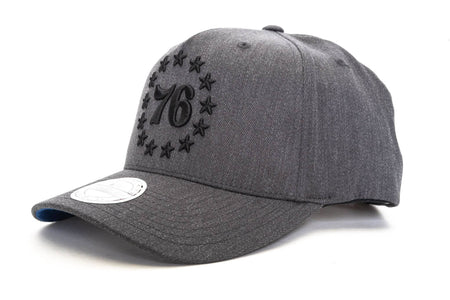 Grey mitchell and ness dark heather wool bb piladelphia 76ers mitchell & ness cap