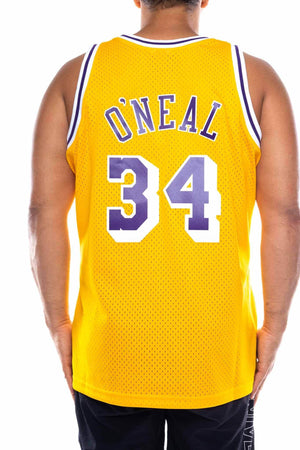 mitchell and ness lakers shaq 34 96-97 nba swingman jersey mitchell and ness tank