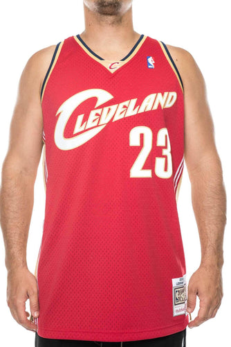red/gold / M mitchell and ness lebron james cavaliers 03-04 road swingman jersey mitchell and ness 191026047763 tank