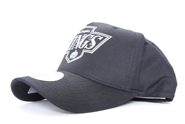 mitchell and ness lost angeles kings silicone print logo 110 curved flex fit cap