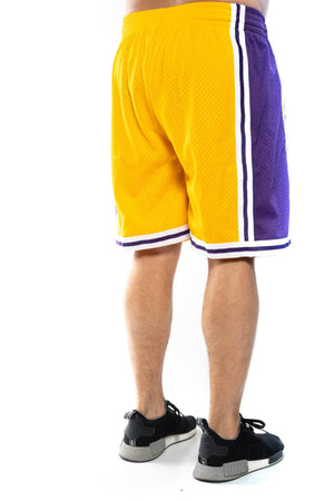 mitchell and ness los angeles lakers home 96-97 nba swingman shorts mitchell and ness Short
