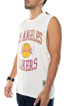 mitchell and ness los angeles lakers vintage crest logo muscle tank mitchell and ness tank