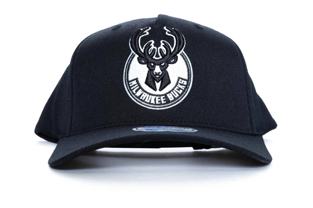 mitchell and ness milwaukee bucks logo 110 snapback