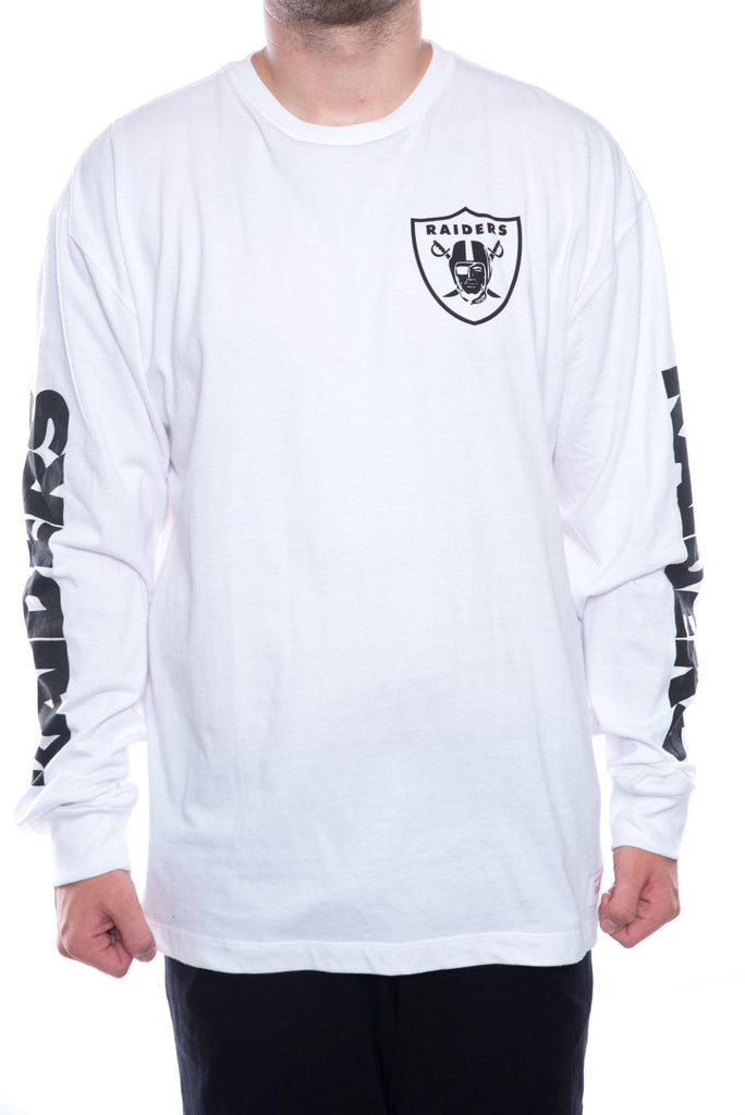 mitchell and ness oakland raiders longsleeve print
