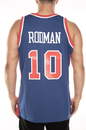 mitchell and ness pistons rodman 10 road 88-89 swingman jersey mitchell and ness jersey
