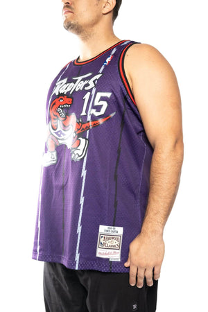 mitchell and ness raptors carter 15 road 98-99 nba swingman jersey mitchell and ness tank