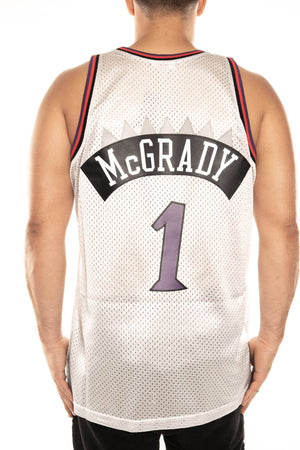 mitchell and ness raptors mcgrady 1 98-99 platinum swingman jersey mitchell and ness jersey