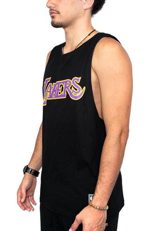 mitchell and ness retro repeat lakers muscle mitchell and ness tank