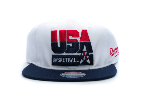 White mitchell and ness team usa 92 basketball snapback mitchell & ness cap