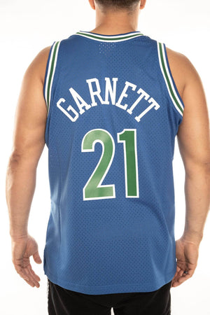 mitchell and ness twolves garnett 21 road 95-96 swingman jersey mitchell and ness jersey