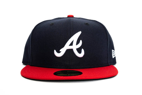 new era 5950 atlanta braves fitted perforated new era cap