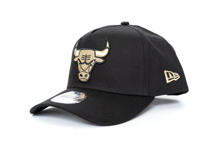 black/gold new era 940 Aframe chicago bulls new era cap