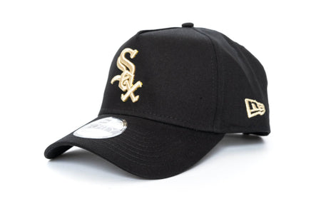 black/gold new era 940 Aframe chicago white sox new era cap