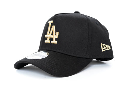 black/gold new era 940 Aframe los angeles dodgers new era cap