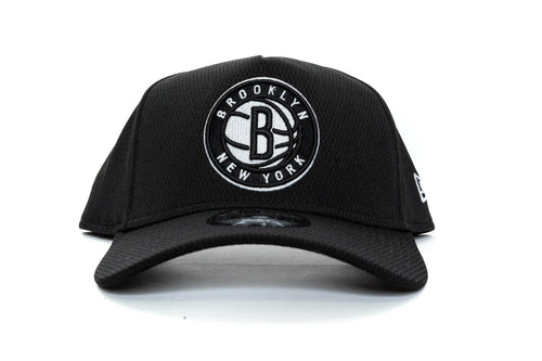 BLACK/WHITE new era 940 aframe brooklyn nets ball mesh new era cap