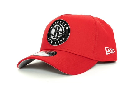 scarlet/black new era 940 aframe brooklyn nets new era cap