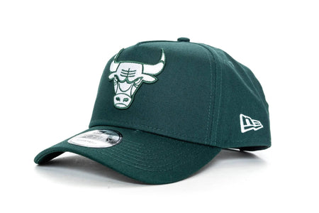 dark green new era 940 aframe chicago bulls new era cap