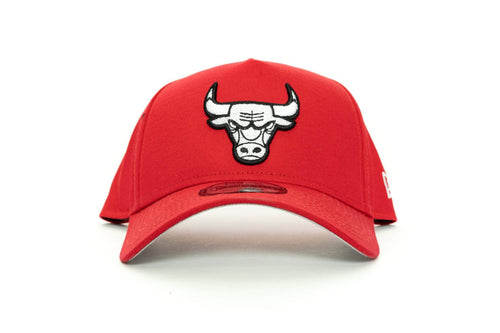 scarlet/black new era 940 aframe chicago bulls new era cap